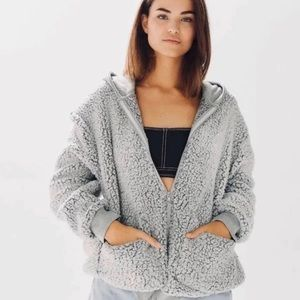 Urban Outfitters Hooded Sherpa